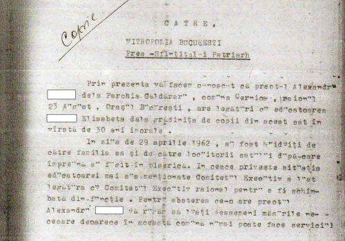 Istorie romantata Caldararu, Cernica